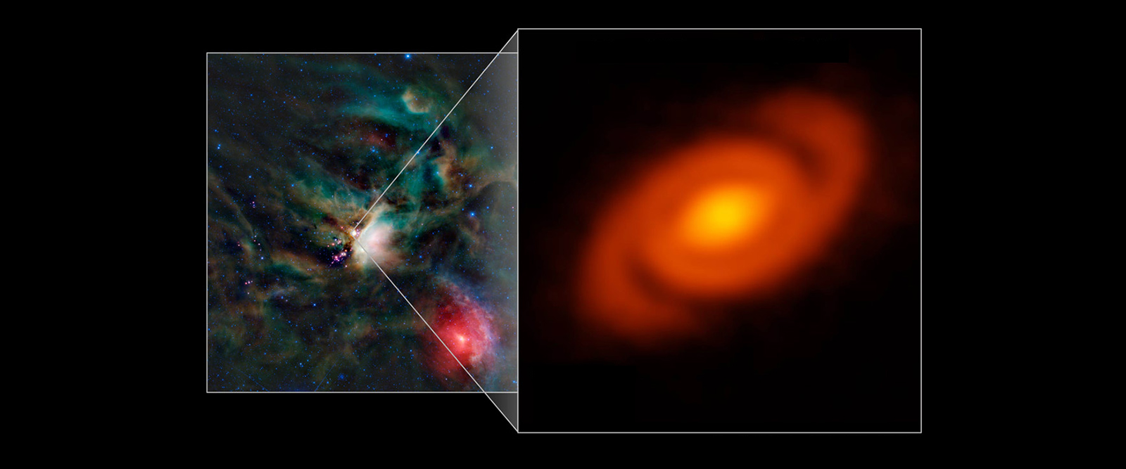 Planet-forming disk has lawn-sprinkler-like spiral arms