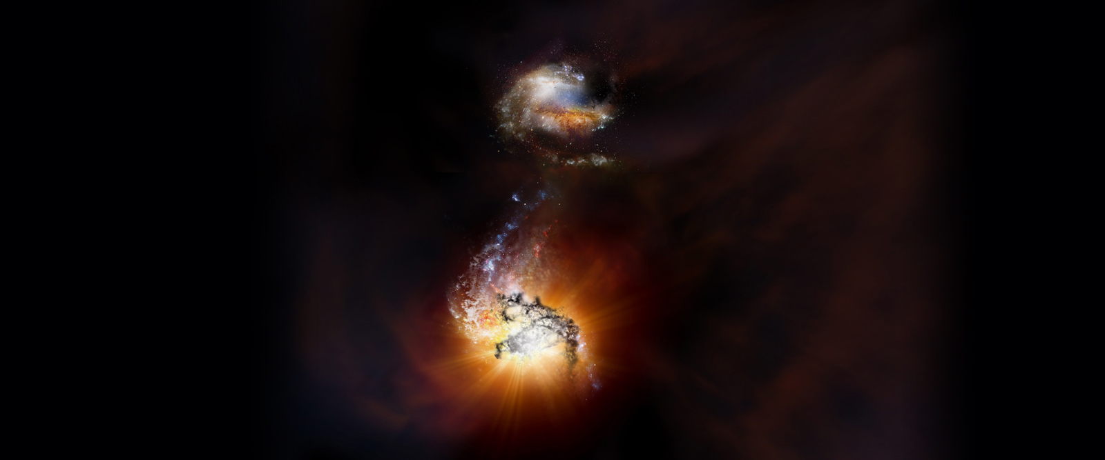 Cosmic traffic accident in the early universe